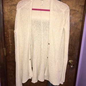 Free People Cream colored Knit Sweater- XS